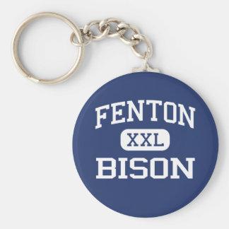 Fenton - Bison - High - Bensenville Illinois Basic Round Button Keychain