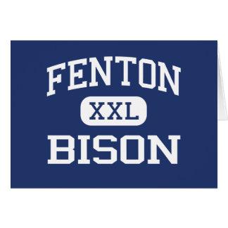 Fenton - Bison - High - Bensenville Illinois Greeting Card