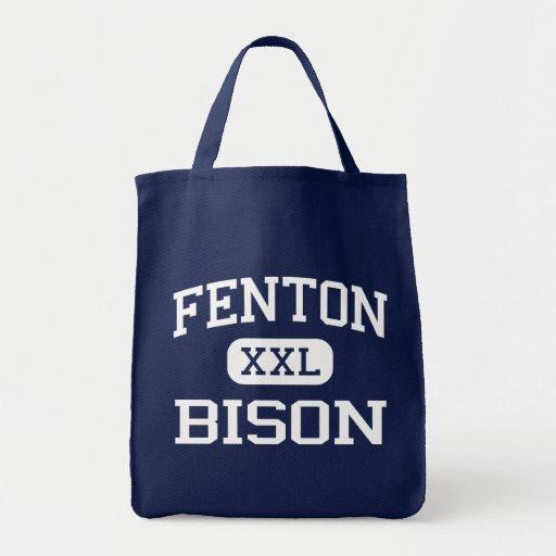 Fenton - bisonte - alto - Bensenville Illinois Bolsa Lienzo
