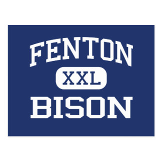 Fenton - bisonte - alto - Bensenville Illinois Tarjetas Postales