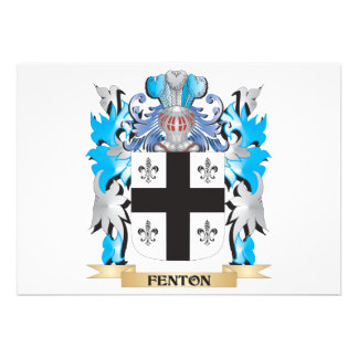Fenton- Coat of Arms - Family Crest Custom Announcements