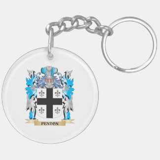 Fenton- Coat of Arms - Family Crest Double-Sided Round Acrylic Keychain