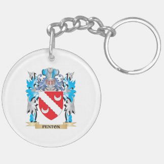 Fenton Coat of Arms - Family Crest Double-Sided Round Acrylic Keychain