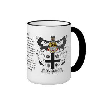 Fenton Family Coat of Arms Ringer Mug