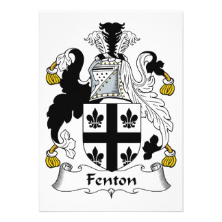 Fenton Family Crest Personalized Announcements