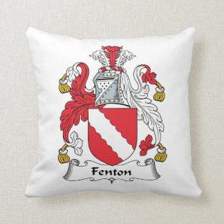 Fenton Family Crest Throw Pillow