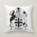 Fenton Family Crest Throw Pillows