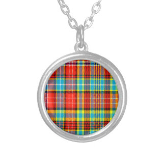 Fenton Scottish Tartan Round Pendant Necklace