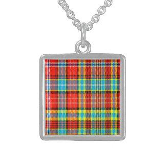Fenton Scottish Tartan Square Pendant Necklace