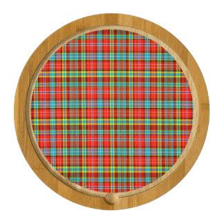 Fenton Scottish Tartan Round Cheese Board