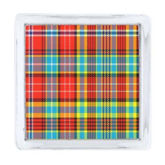 Fenton Scottish Tartan Silver Finish Lapel Pin