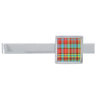 Fenton Scottish Tartan Silver Finish Tie Clip