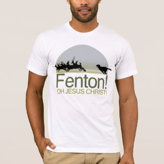 Fenton! the dog chasing deer in Richmond Park T-Shirt