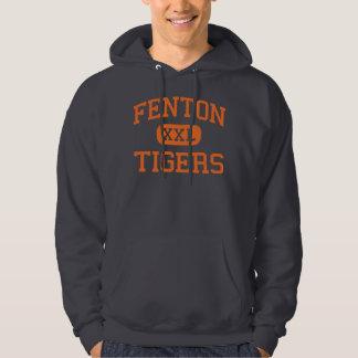 Fenton - tigres - High School secundaria - Fenton Jersey Con Capucha