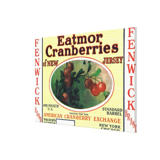 Fenwick Eatmor Cranberries Brand Label Canvas Print