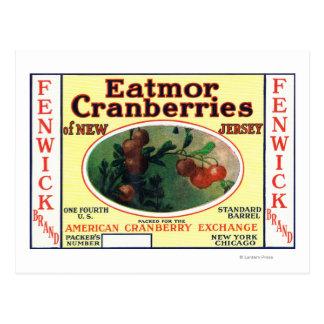 Fenwick Eatmor Cranberries Brand Label Post Cards