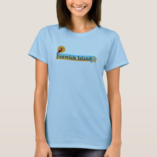 "Fenwick Island ""Beach"" Design. T-Shirt"