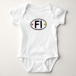 Fenwick Island DE - Oval Design. Baby Bodysuit