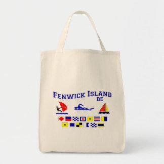 Fenwick Island DE Signal Flags Tote Bag