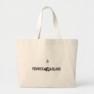 Fenwick Island. Large Tote Bag