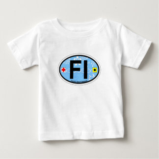 Fenwick Island Oval Design. Baby T-Shirt