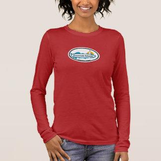 Fenwick Island Oval Design Long Sleeve T-Shirt