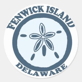 Fenwick Island. Classic Round Sticker