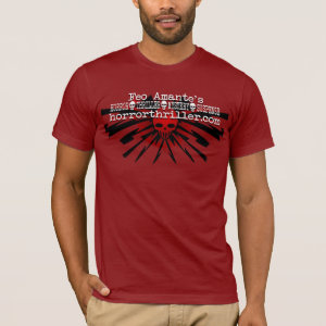 Feo Amante's Horror Thriller Red Banner T-Shirt