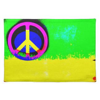 Feo es el signo de la paz hermoso Placemat Manteles