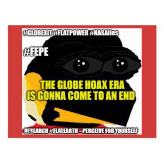 """(FEPE) """"The Globe Hoax Era..."""" Postcard"""