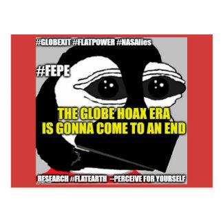 """(FEPE) (YOUTH) """"The Globe Hoax Era..."""" Postcard"""