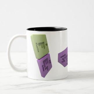 Fer as F Fluorine and Er Erbium Two-Tone Coffee Mug