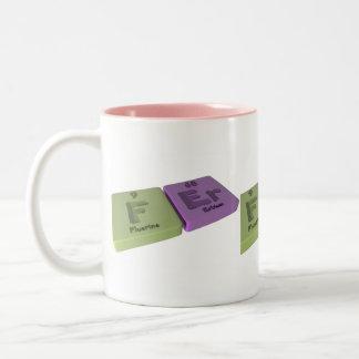 Fer as F Fluorine and Er Erbium Coffee Mug