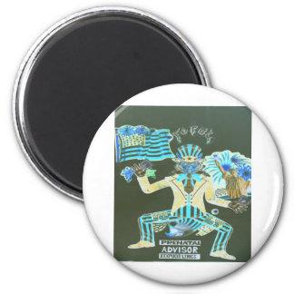 feral album cover 2 inch round magnet