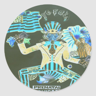 feral album cover classic round sticker