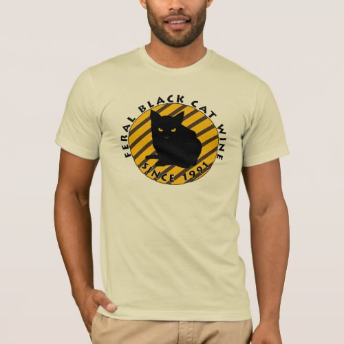 Feral Black Cat Wine T-Shirt