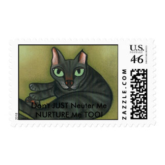 Feral cat, Don't JUST Neuter MeNURTURE Me TOO! Postage Stamps