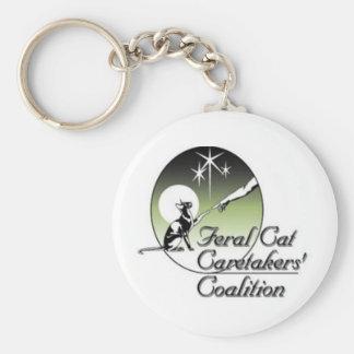 Feral Cat Logo Keychain