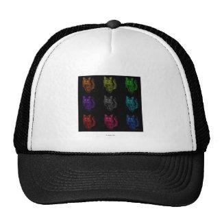 feral cat pop art trucker hat