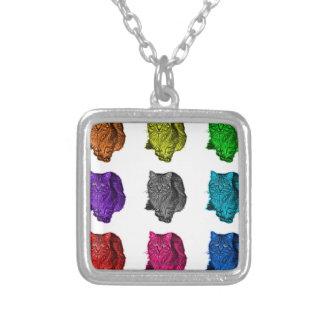 feral cat pop art pendants