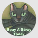 Feral cat, Spay A Stray Today - Customized Stickers