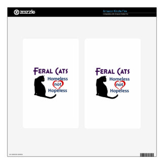 FERAL CATS KINDLE FIRE DECAL