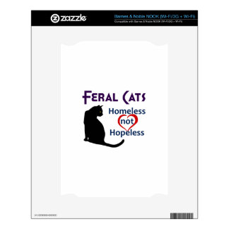 FERAL CATS DECALS FOR NOOK