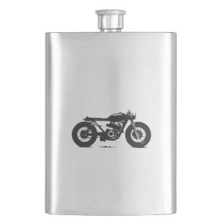 Feral Fiend, brat style motorcycle or coffee to Flask