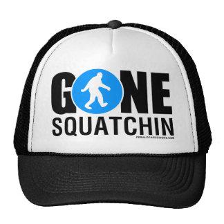 Feral Gear Designs - Gone Squatchin Blue Black Trucker Hat