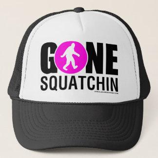 Feral Gear Designs - Gone Squatchin Pink Black Trucker Hat