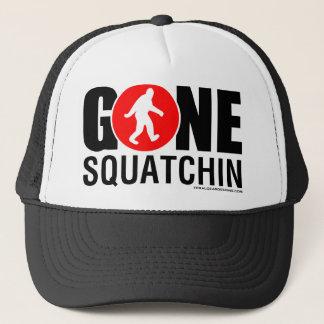 Feral Gear Designs - Gone Squatchin Red Black Trucker Hat
