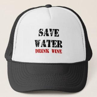 Feral Gear Designs - Save Water Drink Wine Trucker Hat