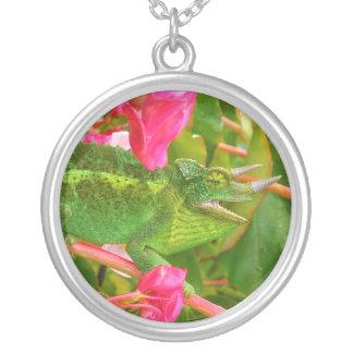 Feral Jackson s Chameleon on Maui Island Hawaii Personalized Necklace