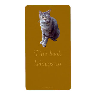 """Feral Kitten """"Tigress"""" Bookplate"""